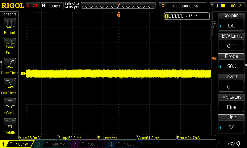 Amplificador interno osciloscopio