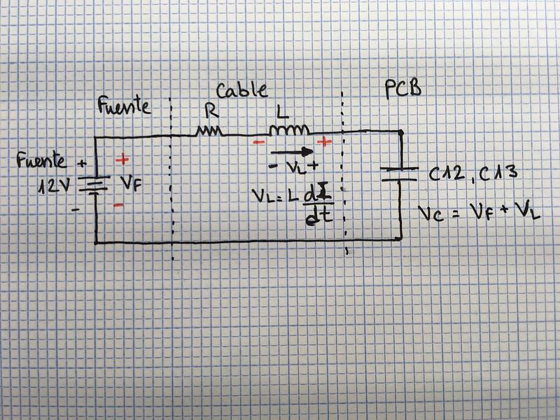 Fuente, c able condensador