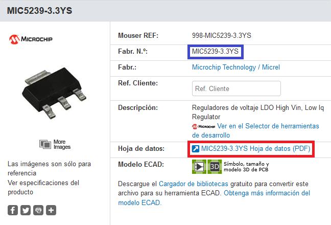 Regulador disipativo MIC5239.